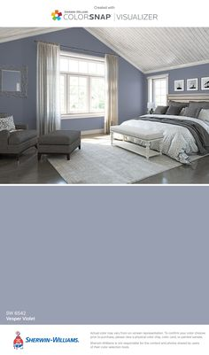 I found this color with ColorSnap® Visualizer for iPhone by Sherwin-Williams: Vesper Violet (SW 6542).