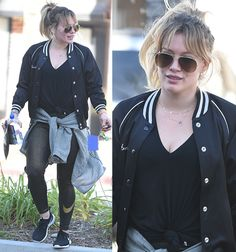 Hilary Duff leaving her gym in Beverly Hills on December 28, 2016