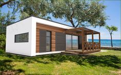 FOR SALE / Te koop: Tiny house, mobiele MOD - Slovenie - Real Estate Slovenia - www. Best Tiny House, Tiny House Cabin, Tiny House Living, Container Home Designs, Tiny Houses Plans With Loft, Tiny Houses For Sale, Small Cottage Designs, Small House Design, Tiny House Community