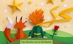 Beautiful Paper Crafts Beautiful Paper Crafts Beautiful Paper Art Inspired The Little Prince 3d Paper Art, Paper Pop, Quilled Paper Art, Paper Cut Out Art, Film Paper, Paper Art Design, Diy Papier, Paper Illustration, The Little Prince