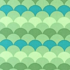 * Robert Kaufman Fabric - Adventure Green Blue - Hello Tokyo - Scallops | eBay