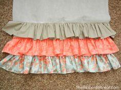 Diy ruffle crib skirt find it make ruffled crib skirt tutorial the adjule ruffled crib skirt a small crib skirt name sheet ruffled patternAdjule Ruffled [. Baby Crib Diy, Baby Girl Crib Bedding, Baby Cribs, Crib Skirt Patterns, Crib Skirt Tutorial, Diy 2019, Ribbon Retreat, Crib Skirts, New Baby Products