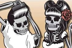 rockabilly skeletons