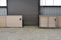 Kick wall gate - by Equine Facility Products