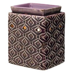 Amethyst Scentsy Warmer:  A playful diamond pattern enlivens a bold purple background in Amethyst.  www.ldnwicklesscandles.com #Gifts #Europe #AmethystScentsy