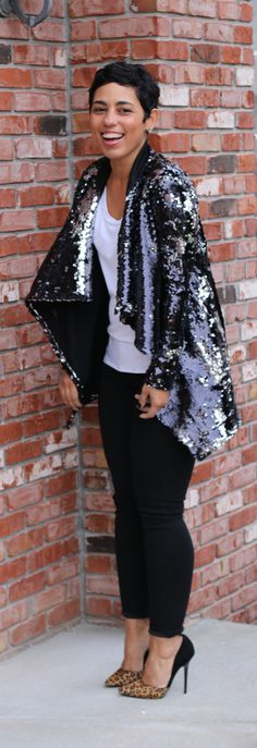 A sequin cardigan is the perfect finishing touch for any look this season! Layer it over your basics and more for a standout style that everyone will love! Talk about festive and fun! How would you style this trend?