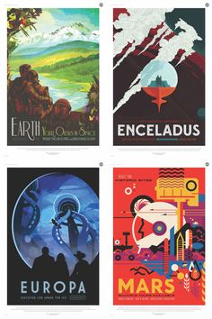 Space Travel Posters set of 3, Your CUSTOM selections, New!!! 2016 NASA/JPL