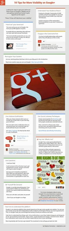 10 Tips for more Visibility on Google+