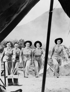 Australian nursing sisters in New Guinea - World War 2 Help Us Salute Our Veterans by supporting their businesses at www.VeteransDirectory.com and Hire Veterans VIA www.HireAVeteran.com Repin and Link URLs