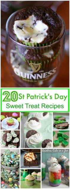 St Patrick's Day Sweet Treat Recipes ~ http://FlavorMosaic.com