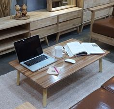Wooden Japanese Style Floor Table Low Tatami Laptop Desk Folding Tea/Coffee #Unbranded #modern