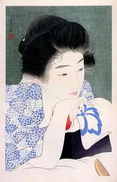 Japanese art woman
