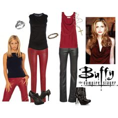 Buffy the Vampire Slayer, created by tizzy-potts on Polyvore