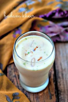Badam Kheer Recipe - Badam Milk Recipe - Indian Welcome Drink Ideas - Edible Garden Indian Drinks, Indian Desserts, Indian Sweets, Indian Food Recipes, Indian Snacks, Dessert Recipes For Kids, Healthy Dessert Recipes, Healthy Drinks, Vegetarian Recipes