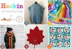 Hookin On Hump Day #130 - the best of the newest yarny projects around! Hosted on Moogly and Petals to Picots!