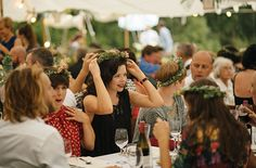 flower crowns | Matakana Wedding | Wildernest Glamping