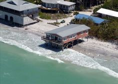 Little Gasparilla Island, Florida - Been there! Stayed in the pink house hanging over the water! Vacation Destinations, Vacation Spots, Vacation Ideas, Little Gasparilla Island, Cayo Costa, Florida Sunshine, Sunshine State, Beach Shack, Island Beach