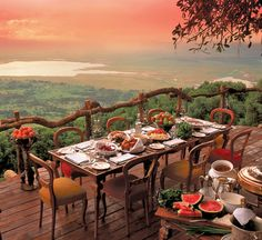 A meal with a view! Ngorogoro crater, Tanzania