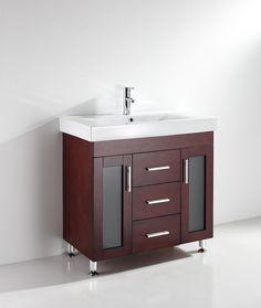 Cottonwood 36 Inch Warm Brown Vanity