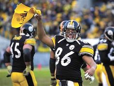 Hines Ward waving the Terrible Towel