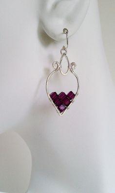Fall 2012 // Dionysis Earrings Amethyst / by MistyEvansDesign, #mistyevansdesign #jewelry #handmade