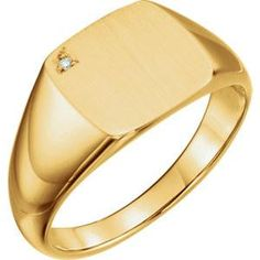 Now available on our store: 14K Yellow .0075 CTW Diamond Men's Signet Ring Check it out here! 14K Yellow .0075 CTW Diamond Men's Signet Ring