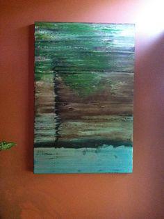 Modern tree oil painting on canvas