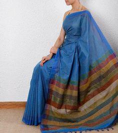 Blue #Ethnic #Saree