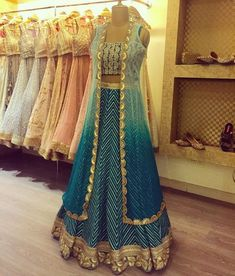 End Customization with Hand Embroidery & beautiful Zardosi Art by Expert & Experienced Artist That reflect in Blouse , Lehenga & Sarees Designer creativity that will sunshine You & your Party. Designer Party Wear Dresses, Indian Designer Outfits, Lehnga Dress, Cape Lehenga, Jacket Lehenga, Lehenga Blouse, Lehenga Saree, Indian Gowns Dresses, Bridal Dresses