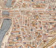 A map of Paris, 1550