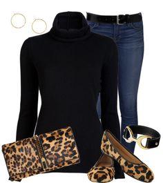 """""""black & leopard"""" by lulu-belle-love on Polyvore"""