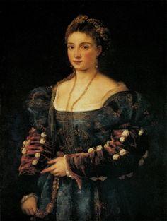 Titian - Lady in a Blue Dress (La Bella) 1536