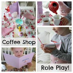 Create a coffee shop role play area for imaginative learning through play!