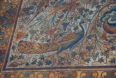 Mosaic of a Peacock  #archaeology  from the Basilica of Justinian #heritage early Byzantine Sabratha