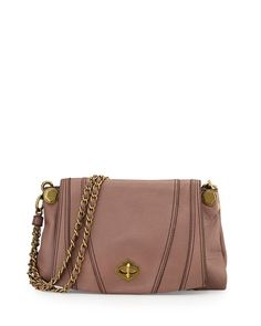 V2BMX Oryany Leah Flap Leather Crossbody Bag, Mushroom