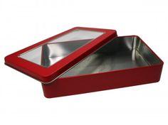 Stülpdeckeldose mit Sichtfenster (189x112x35mm)
