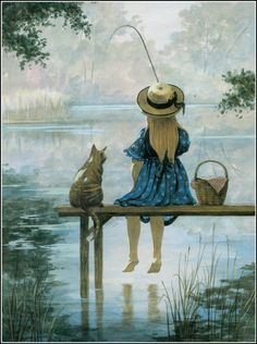 vintage fishing illustration