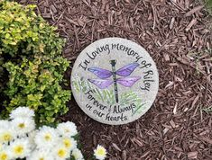 DRAGON FLY MEMORIAL Stone, Penne dragonfly, memorial garden stone, memorial gifts, Memorial Gift Ides, Sympathy Gift, Dragon Fly Memorial by samdesigns22 on Etsy Stepping Stone Pavers, Memorial Garden Stones, Bereavement Gift, Sympathy Gifts, White Gift Boxes, Retirement Gifts, Memorial Gifts, Bride Gifts, Flower Designs