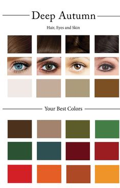 How To Create Your Personal Color Palette (Plus Take Our Color Quiz) — Cladwell - Care - Skin care , beauty ideas and skin care tips Deep Autumn Color Palette, Skin Color Palette, Deep Winter Colors, Color Me Beautiful, Deep Autumn Makeup, Color Quiz, Seasonal Color Analysis, Colors For Skin Tone, Dark Autumn