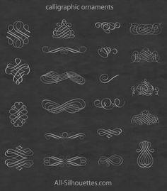 ウエディング関連はもちろんエレガントなカードデザインに欠かせないカリグラフィー装飾。 All-Silhouet…