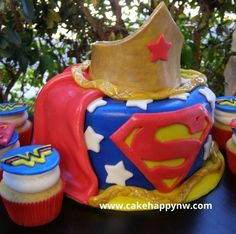 superman and wonder woman birthday party - Google Search
