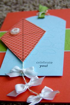 Kite Card made from tag