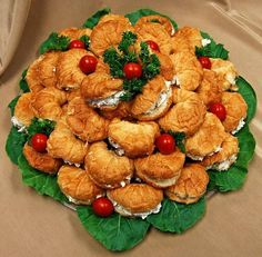 Mini Chicken Salad Croissants Sandwiches   The Most Beautiful And Tasty Party Platters For Every Occasion