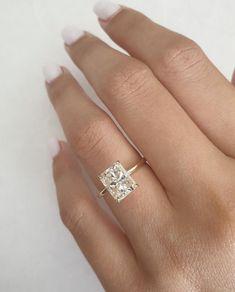 Engagement Solitaire, Radiant Cut Engagement Rings, Dream Engagement Rings, Engagement Ring Cuts, Rectangle Engagement Rings, Engagement Rings White Gold, Engagement Jewellery, Platinum Engagement Rings, Solitaire Ring