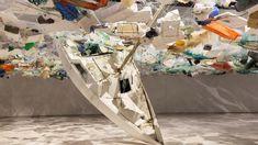 Tadashi Kawamata fills Lisbon's MAAT with plastic to warn about ocean debris Trash Art, Tadashi, Environmental Art, Ocean Art, Installation Art, Sculpture Art, Sculptures, Climate Change, Finding Nemo