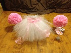 Tutu skirt for baby shower decorations