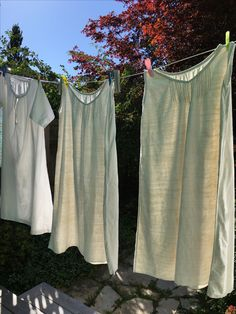 Some of the linen nighties I bought at Vanves. Night Gown, Nighties, Paris, Antiques, Linens, Laundry, Stuff To Buy, French, Home