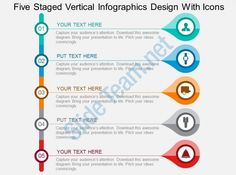 five staged vertical infographics design with icons flat powerpoint design Slide01