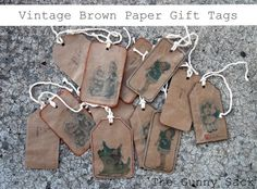 Vintage Brown Paper Gift Tags by sharon.mathews.771