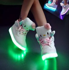 Women's HELLO KITTY Light Up Shoes - Limited Editions - 8 Colors in 1 and like OMG! get some yourself some pawtastic adorable cat apparel! Hello Kitty Haus, Hello Kitty Items, Hello Kitty Stuff, Hello Kitty Clothes, Cute Shoes, Me Too Shoes, Miss Kitty, Light Up Shoes, Hello Kitty Collection
